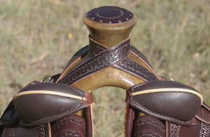 "14 1/2"" Dark Oil Antique XW Wade Stock Saddle"