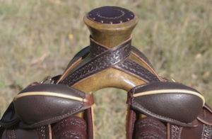 "14 1/2"" Dark Oil Antique XW Wade Stock Saddle"