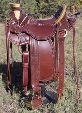 """15"""" Walnut XW Wade Stock Saddle"""