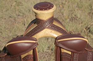 "15"" Walnut XW Wade Stock Saddle"