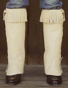 #6 Portuguese Style Leather Half Chaps