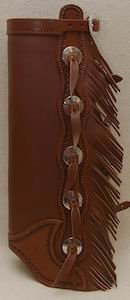#3 Western Leather Half Chaps