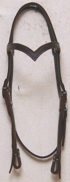 #166 OWS Headstall V-Brow