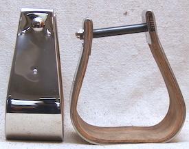 """3 1/2"""" Visalia Brass Slanted Stirrups"""
