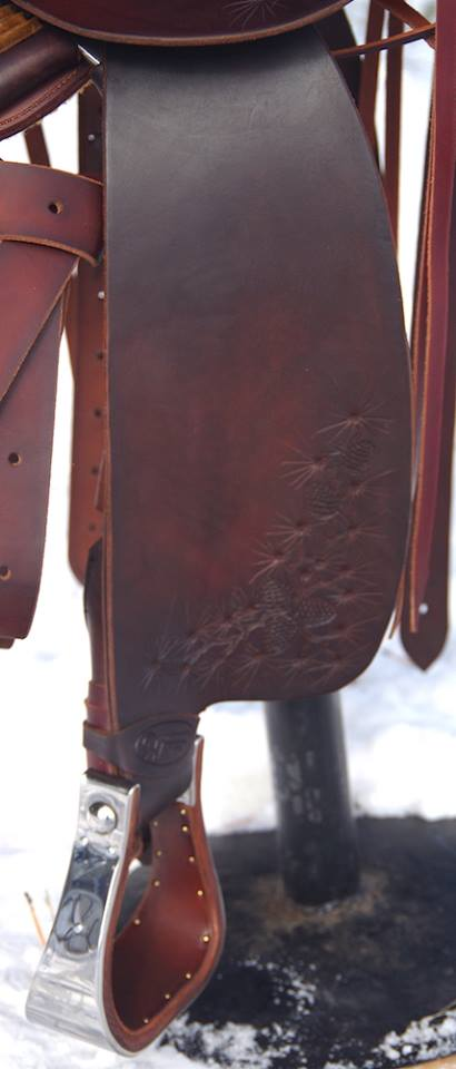 Custom Saddle #97 Pine Cones