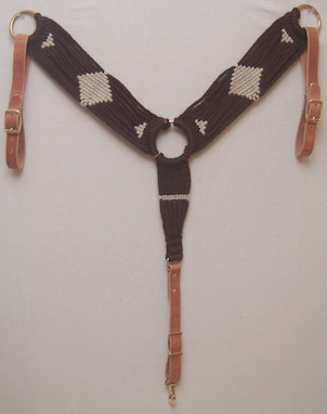 Chocolate/Natural Mohair Breast Collar
