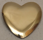 "3"" Polished Brass Heart"