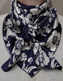 White Flower on Navy