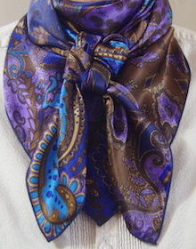 Cowboy Images Blue Brown Paisley